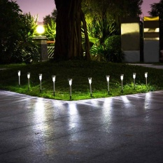 Buy Ybc 10Pcs Solar Powered Path Led Light Stainless Steel Lamp For Yard Garden Intl Online