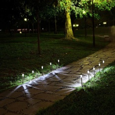 YBC 5pcs Solar Powered Path LED Light Stainless Steel Lamp For Yard Garden - intl