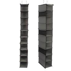 yedatun Home Hanging Clothes Storage Box (10 Shelving Units With Zipper) Durable Accessory Shelves Friendly Closet Cubby, Sweater Handbag Organizer - intl