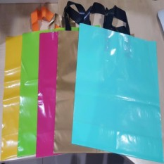 Who Sells Yellow 40Cm X 30Cm Ldpe Soft Loop Handle Bag Loop Shopping Bag Plastic Carrier Local Seller The Cheapest