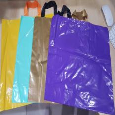 Sale Yellow 45Cm X 35Cm Ldpe Soft Loop Handle Bag Loop Shopping Bag Plastic Carrier Local Seller Singapore