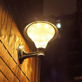 Compare Yika 16 Led Solar Gutter Fence Yard Wall Light Lamp Warm White