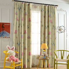 Yika 1Pcs 100*250cm Blackout Owl Pattern Curtain (Green)