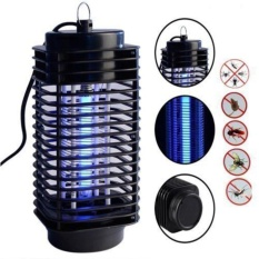 Yika 220V Electric Mosquito Fly Bug Insect Zapper Killer With Trap Lamp Black New - intl