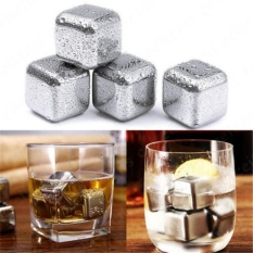 Cheapest Yika 8Pcs Square Silver With Tongs Reusable Stainless Steel Whisky Wine Ice Stones Drinks Cooler Cubes Whiskey Scotch Intl Online