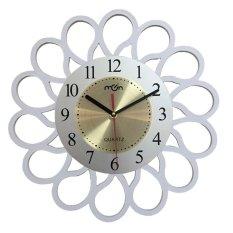 Yika Modern Wood Design Round Wall Clock Fashion Style Home Living Room 40*40cm