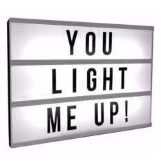 Yika New A4 Light UP Letter Box Cinematic LED Sign Party Wedding Plaque Shop Cinema