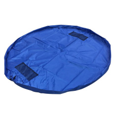 Yika Portable Large Kids Play Mat Toy Organizer Storage Bag 150cm (Blue)
