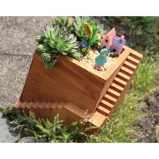 Price Yika Stairs Wood Flower Plants Box Pot Intl On China
