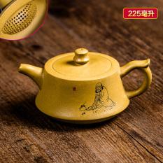 Top Rated Yixing Teapot Pure Handmade Ore Famous Full Handmade Suit Ball Hole Tea Pot Tea Old Purple Mud Plinth Pot
