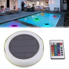 Justgogo Underwater Submersible LED Lights Waterproof Multi Color RGB Floating Light with Remote Control, Solar Powered,Swimming Pool Decoration Lamp Singapore