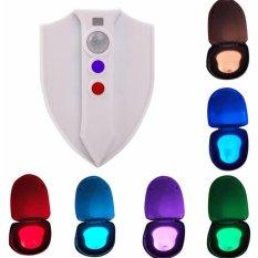 YouOKLight AAA Battery Operated Motion Sensor 8 Colors LED Waterproof Sterilization Closestool Lamp - intl