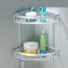 Compare Price Yunmai Bathroom Shelf Aluminum Wall Mounted 2 Layer Triangle Rack Storage Basket On China