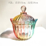 Compare Prices For Zakaa Colorful Glass European Creative Candy Jar Sugar Bowl