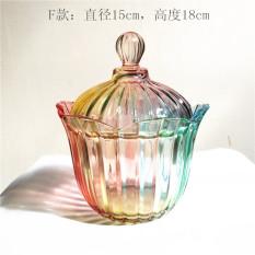 Zakaa Colorful Glass European Creative Candy Jar Sugar Bowl Cheap