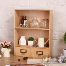 Zakka Retro Wooden Desktop Makeup Products Finishing Rack Storage Box Price