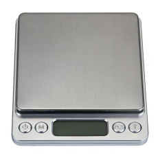 New Zeawhc 3000G 1G Digital Pocket Stainless Jewelry Kitchen Food Scale Lab Weight Silver Intl