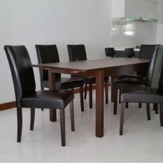 Zeena Furnishing Dining Chair Dual Set K849A (PVC Black).