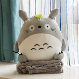 Low Cost Dual Use Hand Warmer Pillow Blanket Three One Totoro