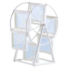 ZongHAX Creative Rotating Ferris Wheel Home Profiles Photo Picture Frame 3.5x5 (White)