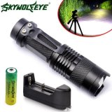 Best Offer Zoom Cree Q5 2000Lm Mini Led Flashlight Focus Torch Light 14500 Charger Intl