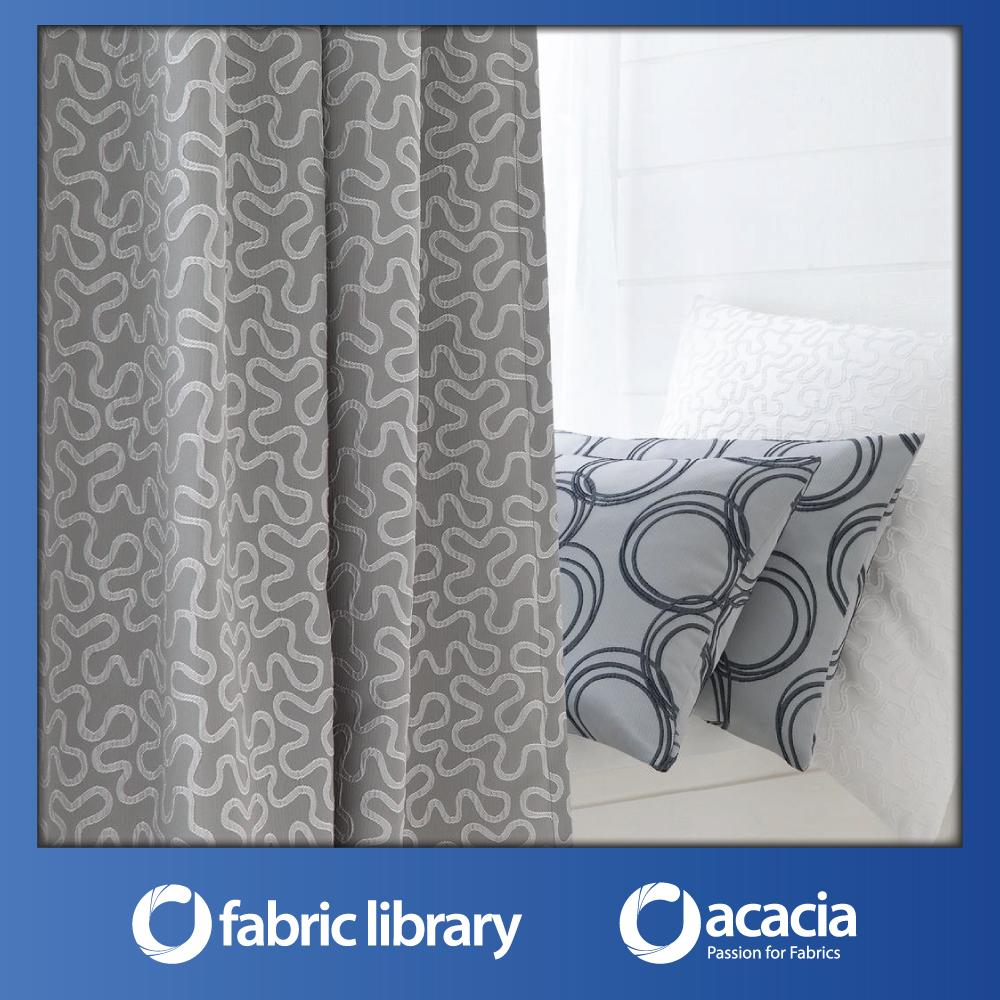Fabric Library (Origami Reloaded) 30 x 102 Window/Sliding Door Eyelet Curtain - Origami Reloaded x 1 Panel