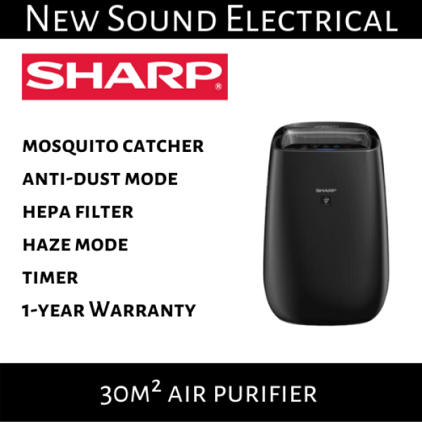 Sharp FP-JM40E-B 30m² Air Purifier with Mosquito Catcher | 1-year Local Warranty Singapore