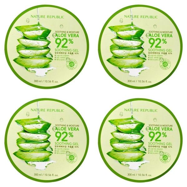 Buy Bundle Nature Republic Aloe Vera Gel 300ml 92% Soothing Moisture Ready Stock Singapore Singapore