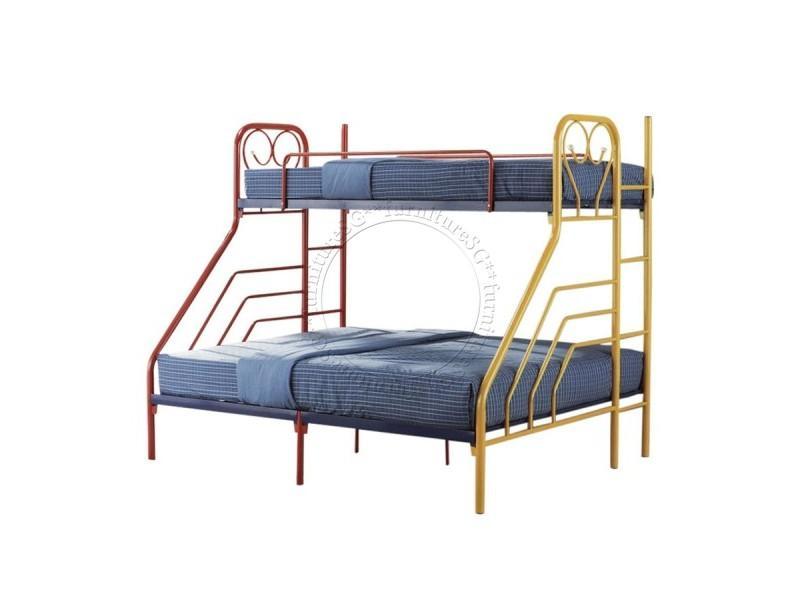 (FurnitureSG) Metal Double Deck [Queen Size Bed Below and Single Top]