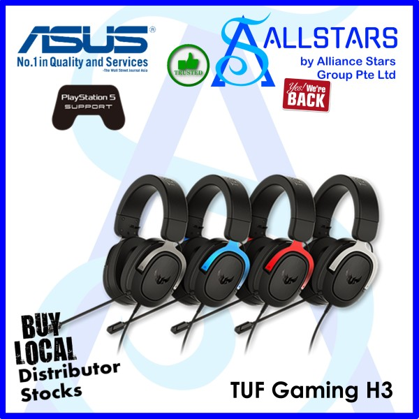 (ALLSTARS : We Are Back Promo) ASUS TUF Gaming H3 Gaming Headset (Warranty 2years with BanLeong)