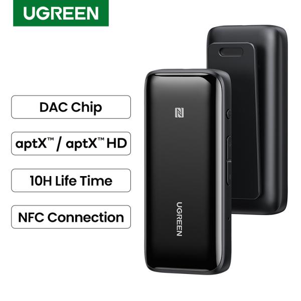 UGREEN Bluetooth 5.0 Receiver USB DAC 3.5mm Wireless Audio Headphone Amplifier NFC aptX LL aptX HD QCC3034 Bluetooth 5.0 Adapter Singapore