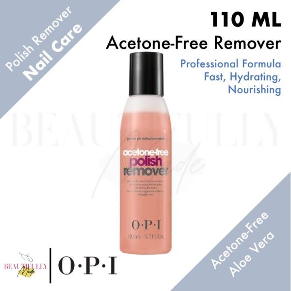 Buy OPI Acetone-Free Polish Remover 110ml - Without Acetone • Removes Nail Polish • Moisturizing Aloe Vera Formula • For Natural or Artificial Nails Singapore