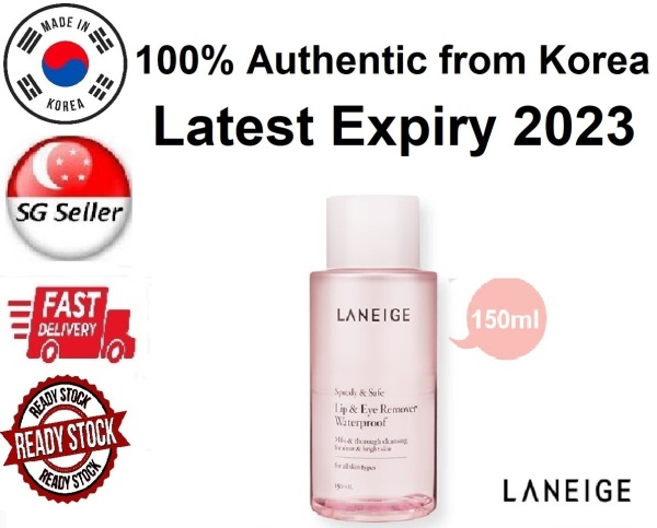Buy *LANEIGE* LIP & EYE MAKE UP REMOVER WATERPROOF (150ML) SG SELLER *FAST DELIVERY* SPEEDY & SAFE *MILD & THOROUGH CLEANSING FOR CLEAR BRIGHT SKIN* SUITABLE FOR ALL SKIN TYPES -100% AUTHENTIC BY BEAUTY BESTIE - MADE IN KOREA Singapore