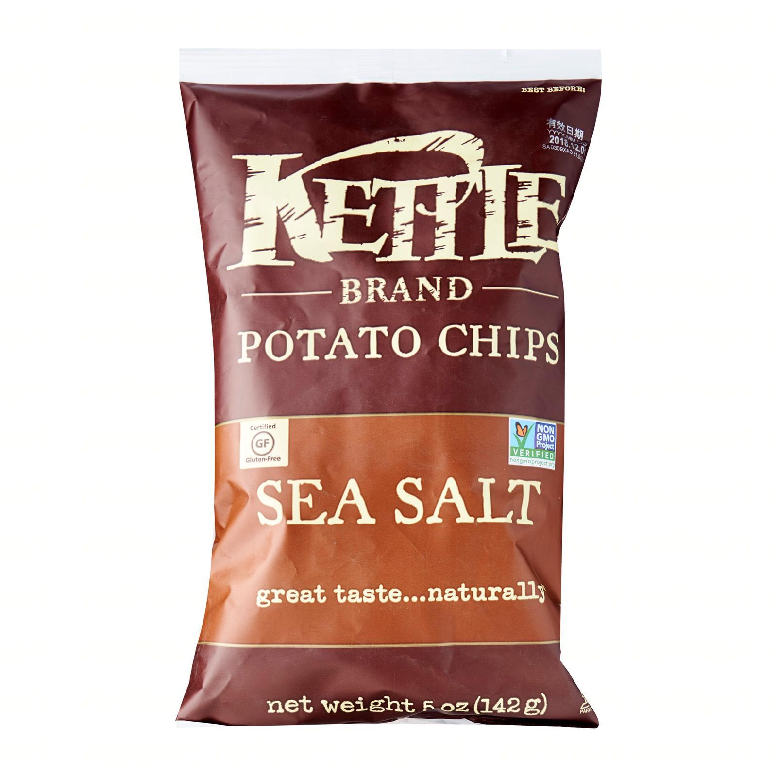 KETTLE Potato Chips Sea Salt 142g