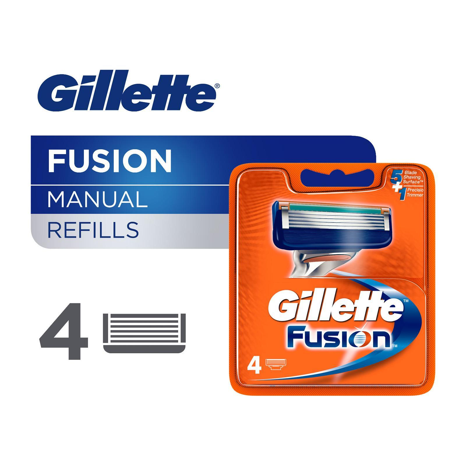 Gillette Fusion Catridges 4s By Klr Trading.