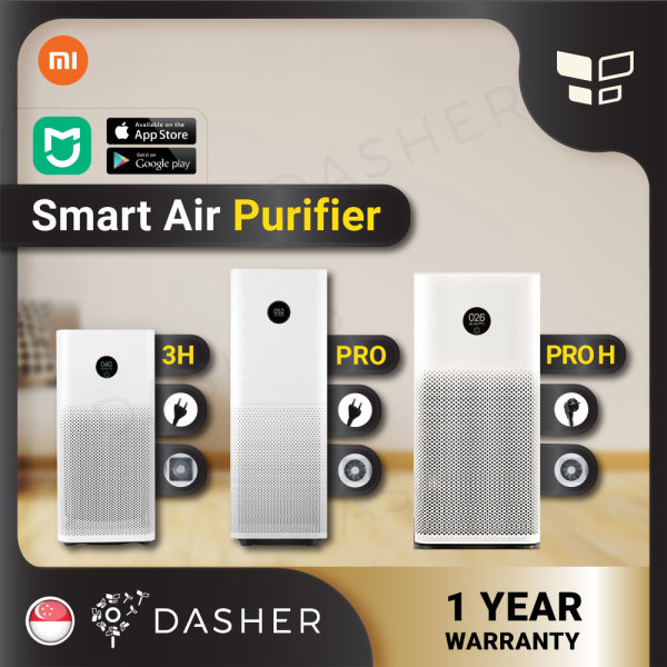 [ENGLISH] Xiaomi Smart Air Purifier Pro & Purifier 3H & Pro H ProH; Filter -Purifier  PRO Purifier 3H Mi Smart Home OLED Screen Display HEPA Filter with Local 2pin Plug Singapore