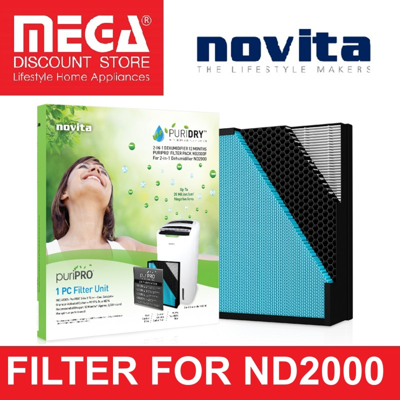 NOVITA FILTER PACK FOR ND2000 DEHUMIDIFIER Singapore
