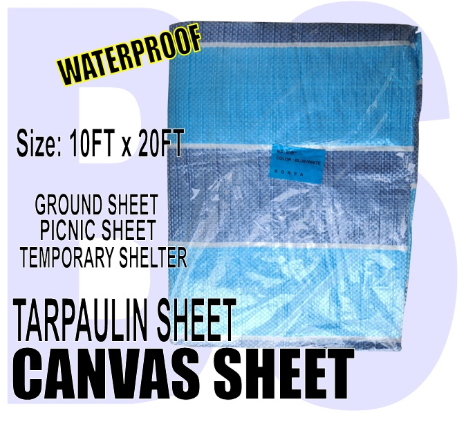 BANSOON Waterproof Canvas Sheet 10FTX20FT (300cm x 600cm). Picnic sheet. Construction. Lorry Shelter. Goods Cover.