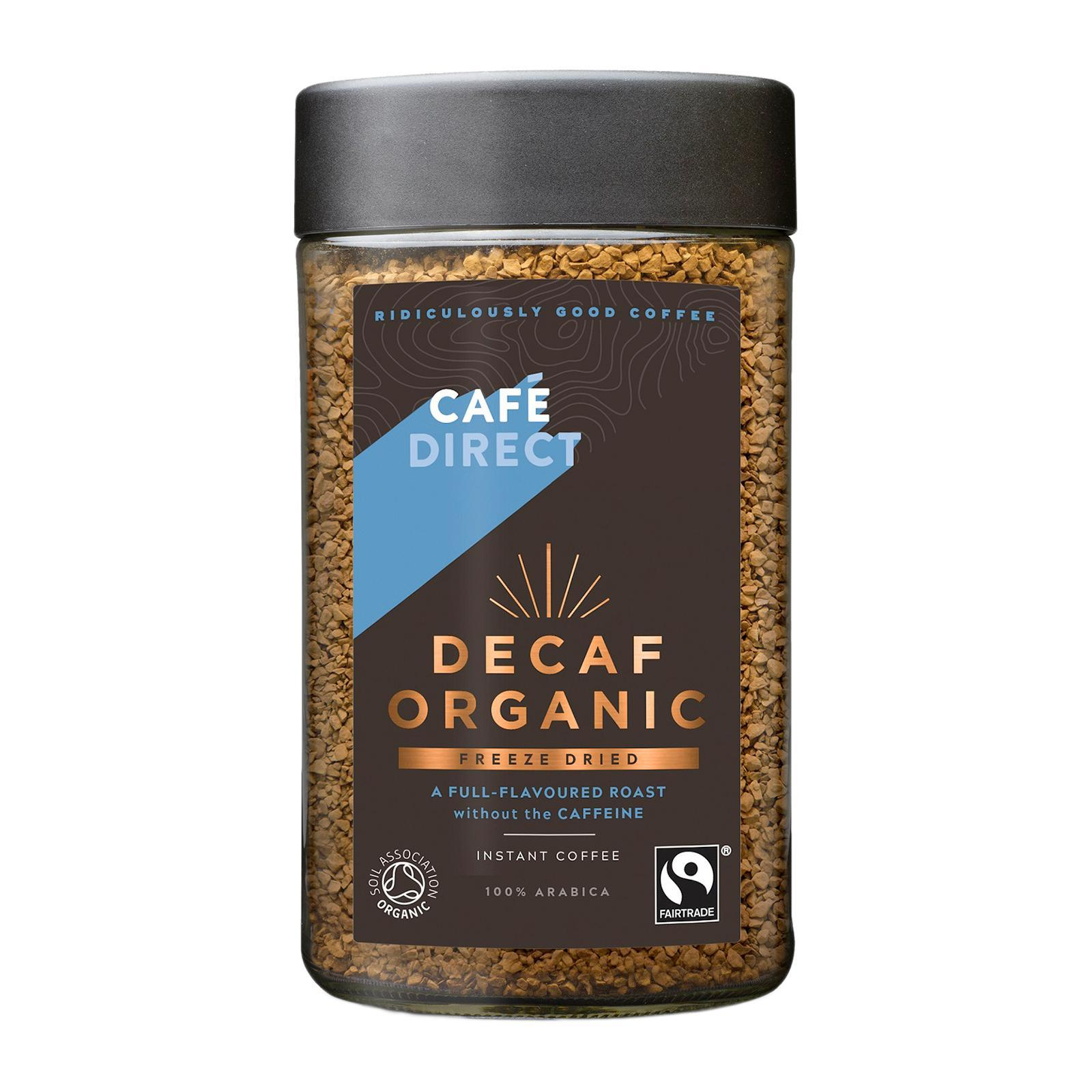 Cafedirect Fairtrade Organic Decaf Instant Coffee