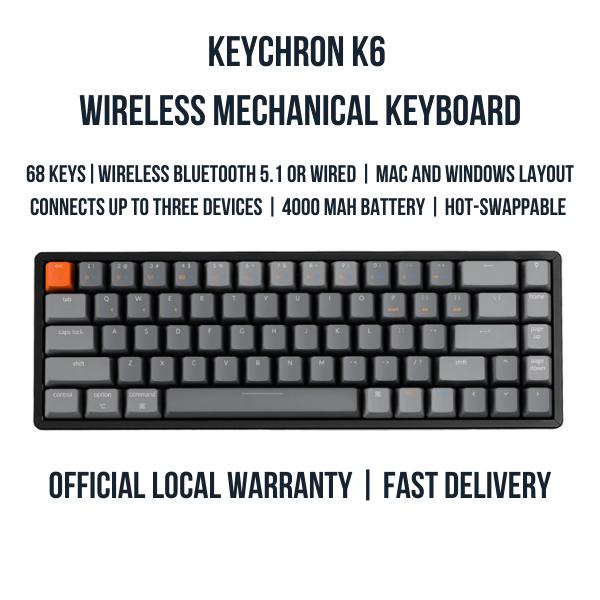 Keychron K6 Wireless Mechanical Keyboard