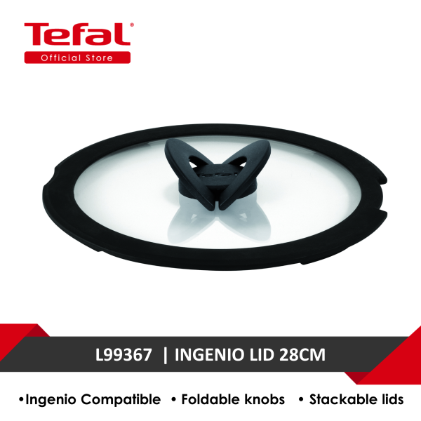 Tefal Ingenio Glass Lid 28cm L99367 Singapore