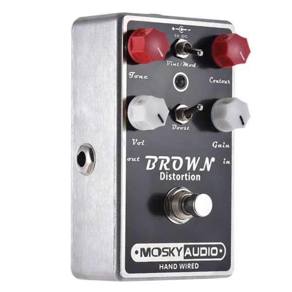MOSKYAUDIO BROWN Distortion Guitar Effect Pedal Full Metal Shell True Bypass Distortion Effect Guitar Pedal