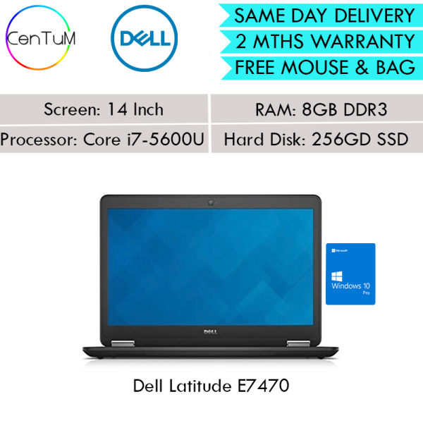 [Same Day Delivery] Refurbished Dell Latitude E7450 Touch Screen 14 Inch Core i7 / 8GB /16GB / 256SSD / [Up to 24 Months Warranty]