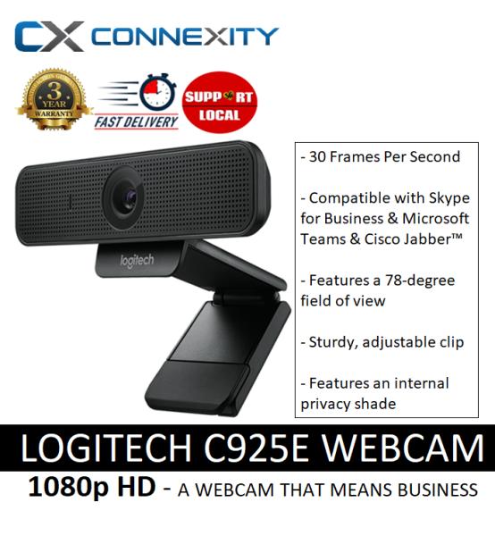 [LOCAL WARRANTY] Logitech C925E Business Webcam | C925E l Logitech 925e l Logitech C925 l  Logitech 925 l Logitech Webcam C925e l Logitech Webcam C925 l Logitech 925e Webcam l Plug and Play HD Webcam | Logitech Webcam with Mic l 1080p Webcam l HD Webcam