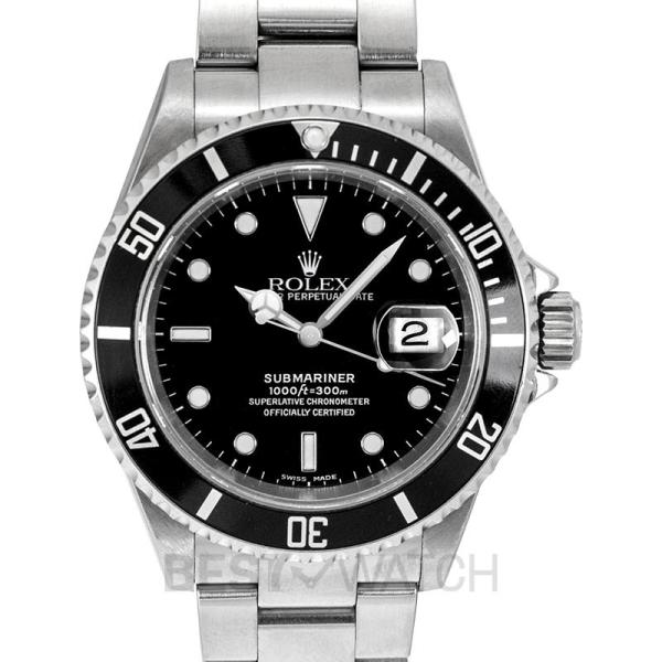 Rolex Submariner Date Black/Steel 40mm 16610 Black Malaysia