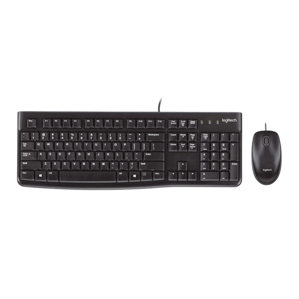 Logitech K120 Wired Keyboard And Mouse Combo Quiet typing Durable Keys Black Singapore