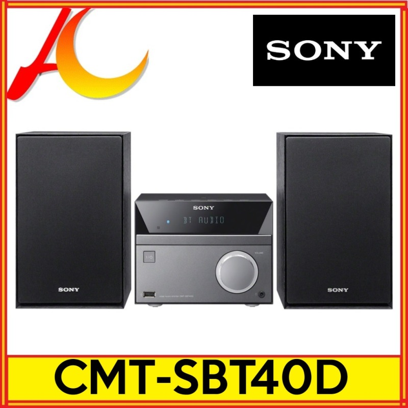 Sony CMT-SBT40D 50W Bluetooth Hi-Fi System with CD and FM Radio Black/Grey (40D CMTSBT40D) Singapore
