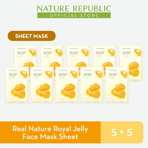 Buy Nature Republic Real Nature Royal Jelly Face Mask Sheet - for Normal Skin (5+5) Singapore