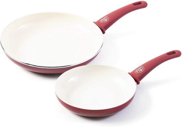 GreenLife Ceramic Soft Grip Non-Stick 7 and 10 Frypan Set Singapore