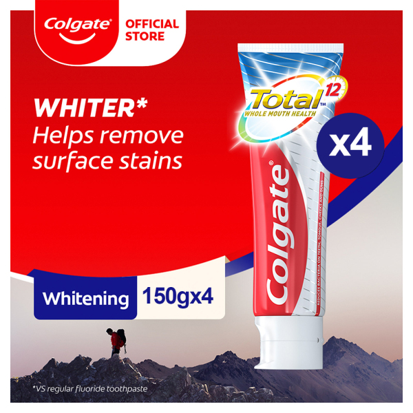 Buy Colgate Total Professional Whitening Toothpaste Valuepack 150g [Bundle of 4] Value Deal (TH02879A-4) Singapore